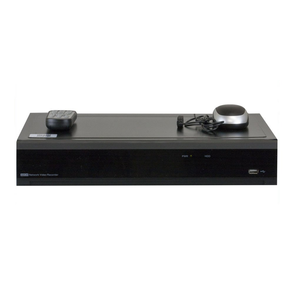GW Security 32 Channel H.265 4K HDMI NVR / Network Video Recorder, 16CH PoE Ports - Compatible with 8MP / 5MP /4MP 1080P Realtime ONVIF IP Cameras (No HDD pre-installed, 4x HDD bay, up to 32TB total) by GW Security Inc