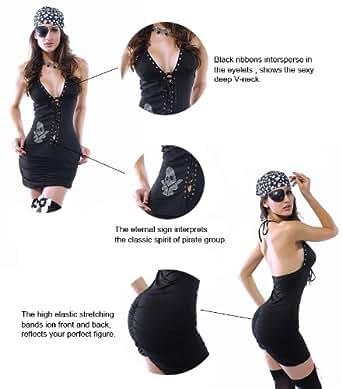 Smiffy 's–Disfraz de pirata sexy, Cosplay pirata Wear Wholesale, pistolas de calavera pirata disfraz, cosplay para mujer y adulto