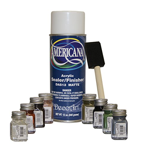 (Alpine RTD102 Testers' Touch Up Paint Kit with Americana Sealer and Brush)