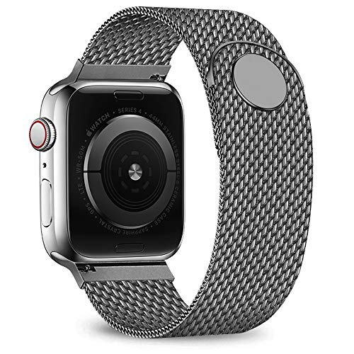 jwacct Compatible for Apple Watch Band 38mm 40mm, Adjustable Stainless Steel Mesh Wristband Sport Loop for iWatch Series 4 3 2 1,Space Gray