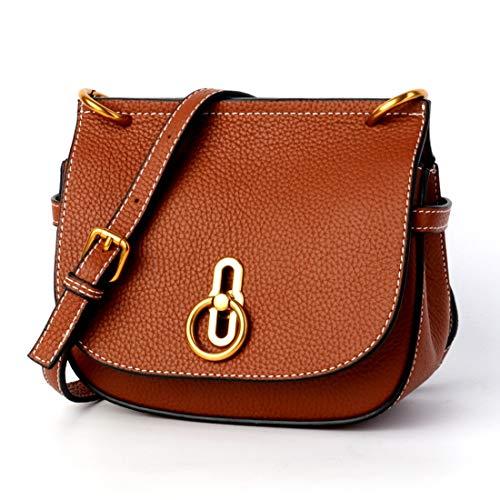 Caramel Dame Bandoulière color Black Colour Main Selle Pour Polyvalent Sac Sacs Cuir Slung Bag De Épaule À Klerokoh Lock En wfSZU1Axq