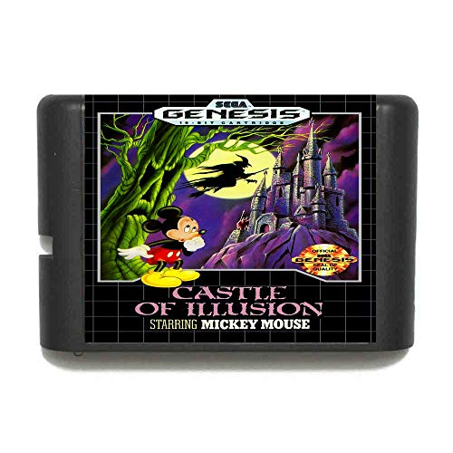 - The Crowd Tradensen Castle of Illusion Starring Mickey Mouse 16 Bit Md Game Card for Sega Mega Drive for Genesis