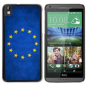Slim Design Hard PC/Aluminum Shell Case Cover for HTC DESIRE 816 National Flag Nation Country European Union / JUSTGO PHONE PROTECTOR