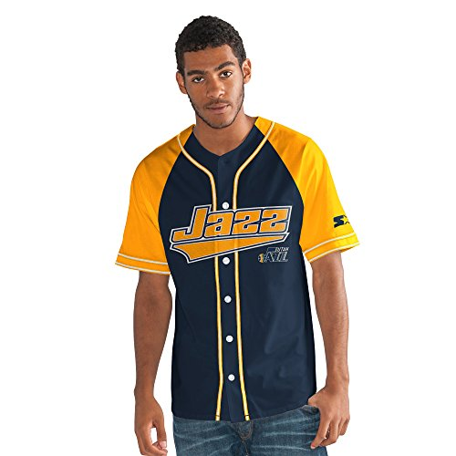 (Starter Adult Men The Player Baseball Jersey, Navy, X-Large)