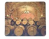 Wine Barrels Neoprene Mouse Pad Napa Valley California Vineyard