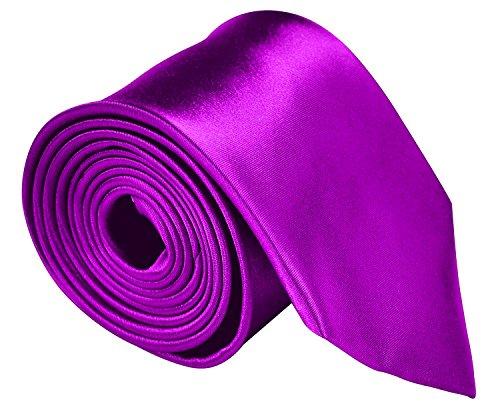 Mens Solid Color Formal Tie Wedding Necktie 3.5