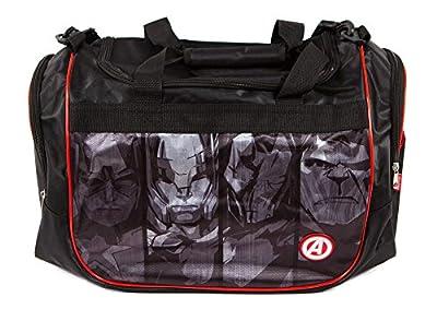 Marvel Avengers Sports Duffel Bag, Black/Red