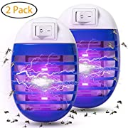 #LightningDeal 93% claimed: Athemo 2 Pack Bug Zapper, Plug in Electronic Insect Trap, Mosquito Killer Lamp Eliminates Most Flying Pests with Night Light