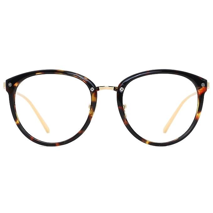 TIJN Blue Light Block Glasses|Round Optical Eyewear Non-prescription ...