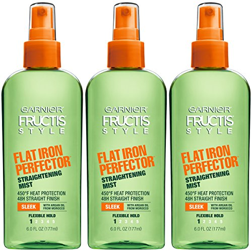 Garnier Fructis Style Flat Iron Perfector Hair Straightening Mist, 6 Ounce Bottle, 3 Count (Hair Flat Spray Iron)