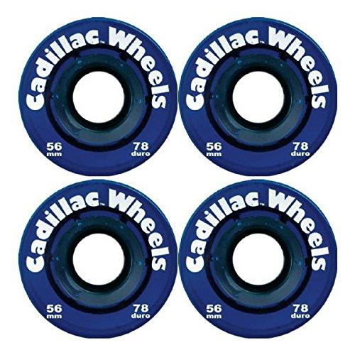 Cadillac Wheels Blue Skateboard Wheels - 56mm 78a (Set of 4)