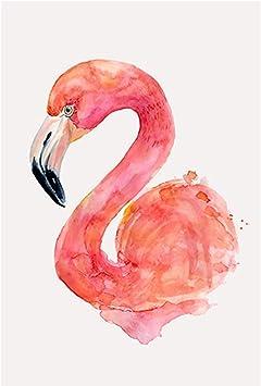Puzzle House- Flamingo & Monstera, Pintura de Estilo nórdico de Morden, Rompecabezas de Madera, Cut & Fit, 500~5000 Piezas en Caja Ilustración Puzzles de Madera Juguetes Arte para Adultos -0: Amazon.es: Juguetes