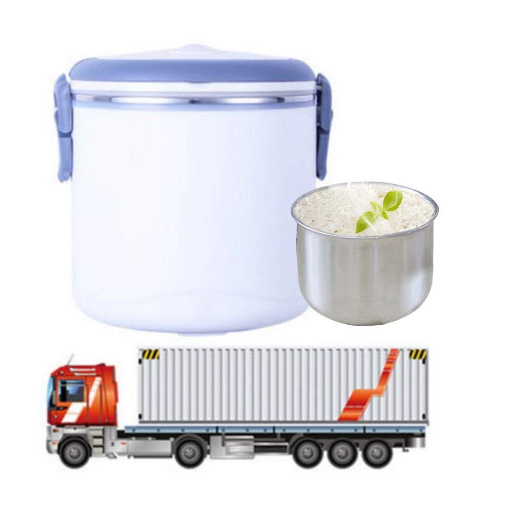 dewdropy Fiambrera El/éctrica 24V Calefacci/ón De Fiambrera Enchufable con Forro De Acero Inoxidable Fiambrera del Coche De 1.3L Lunch Box
