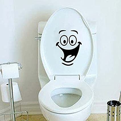 Funnytoday365 ChildrenS Room Wall Toilet Bathroom Cabinet With Decorative Stickers Animation Seat Vinyl Decal