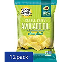 Good Health Avocado Chips Sea Salt, 5-Ounce Bags (Pack of 12)