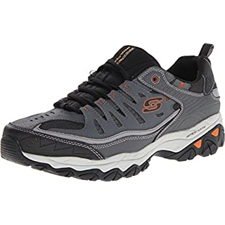 Skechers mens Afterburn M. Fit fashion sneakers, Charcoal, 7 US