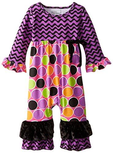 Flap Happy Dots (Flap Happy Baby Girls' Bella Baby Ruffle Romper, Sugar Dots, 24 Months)