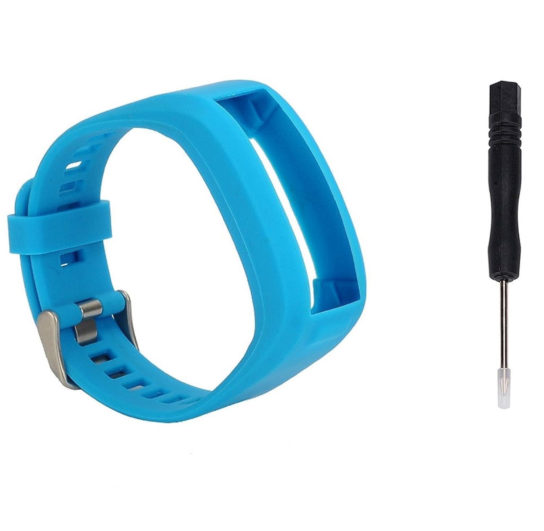 rukiwa for Garmin Vivosmart HRファッションスポーツシリコンバンドストラップブレスレットブルー  B01MPWW8ML