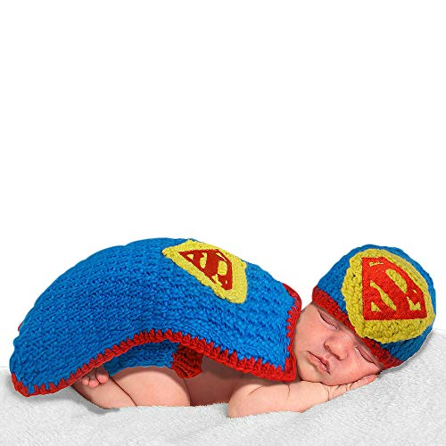 Baby Crochet Outfit- Superman Costume for Babies- Superman Cocoon Costume for Babies - Crochet for Babies - Cocoon Costume for Babies - Newborn Crochet Superman Costume- Superman (Crochet Little Man Outfit)