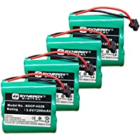 Panasonic KX-TG2570B Cordless Phone Battery Combo-Pack Includes: 4 x SDCP-H339 Batteries