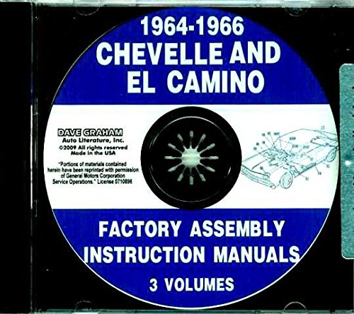 CD 1964-1966 Chevelle and El Camino Factory Assembly Manuals 1965 Chevelle Malibu Convertible