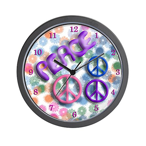 CafePress - Groovy Peace Wall Clock