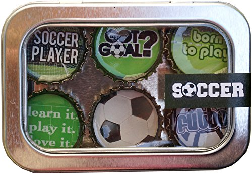 Kate Grenier Designs Soccer Bottle Cap Magnets ()