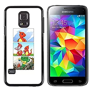 Samsung Galaxy S5 Mini (NOT for S5) / Galaxy S5 Mini Duos , Radio-Star - Cáscara Funda Case Caso De Plástico (Poke Charizo Comic)