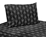 Sweet Jojo Designs Black and White Woodland Arrow Twin Sheet Rustic Patch Collection-3 Piece Set