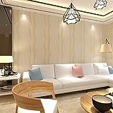 HANMERO® papel pintado rayas verticales,no tejido papel de pared dormitorios/salón/hotel,color amarillo beige,0.53M*10M