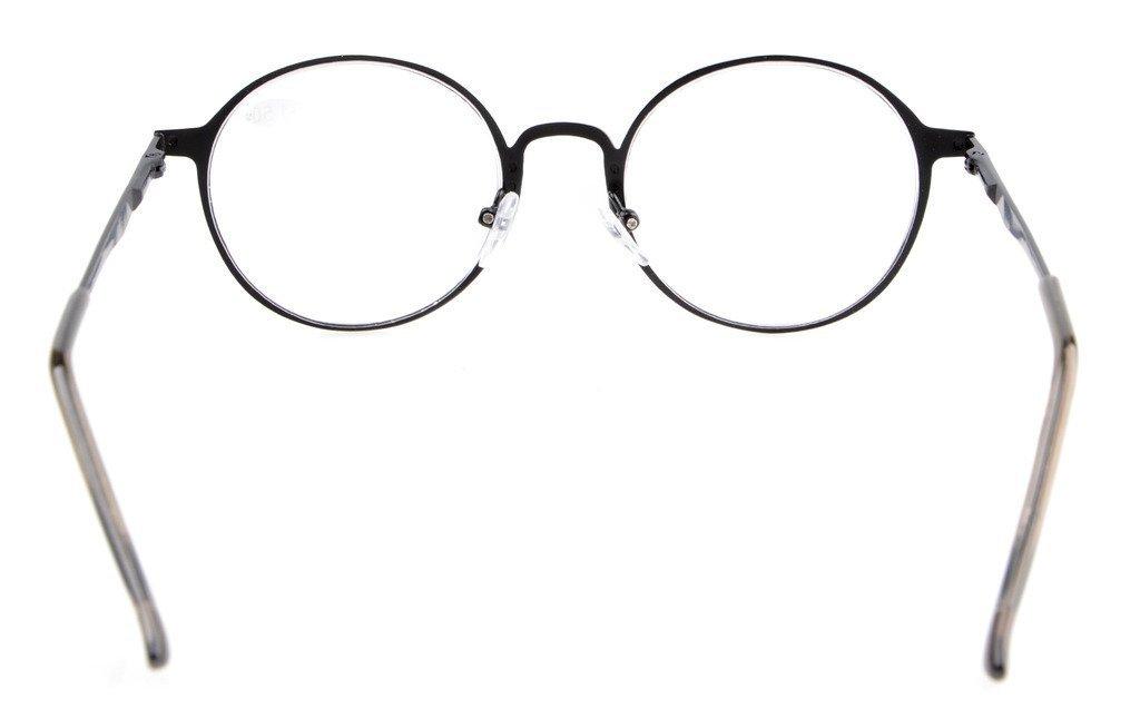 Eyekepper I lettori di qualit/à cerniera a molla Retro rotonda occhiali da lettura Argento 0.5