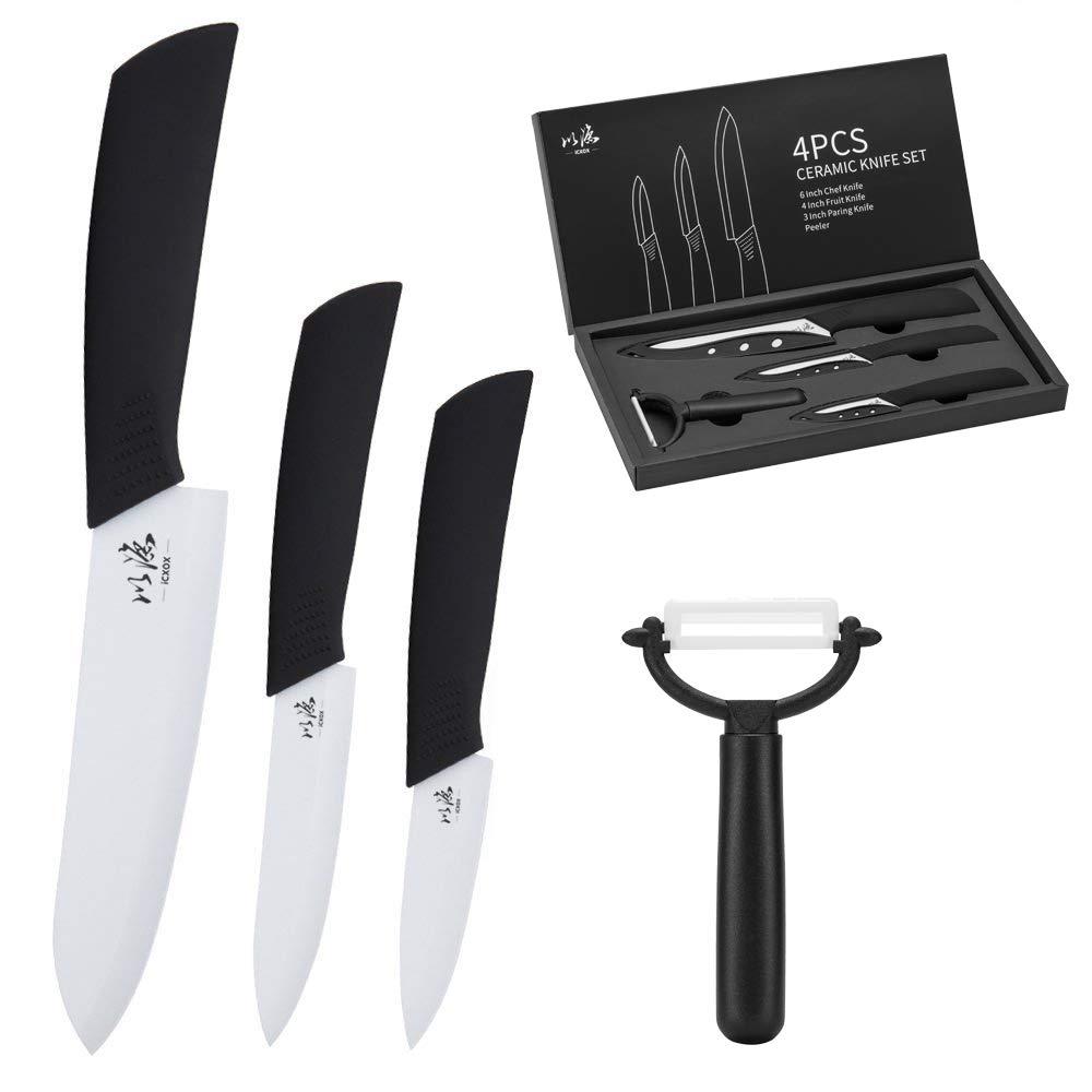 icxox Set de 4 Couteaux