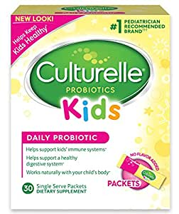 Culturelle Kids Packets Daily Probiotic Formula, One Per Day Dietary Supplement, Contains 100% Naturally Sourced Lactobacillus GG –The Most Clinically Studied Probiotic†, 30 Count