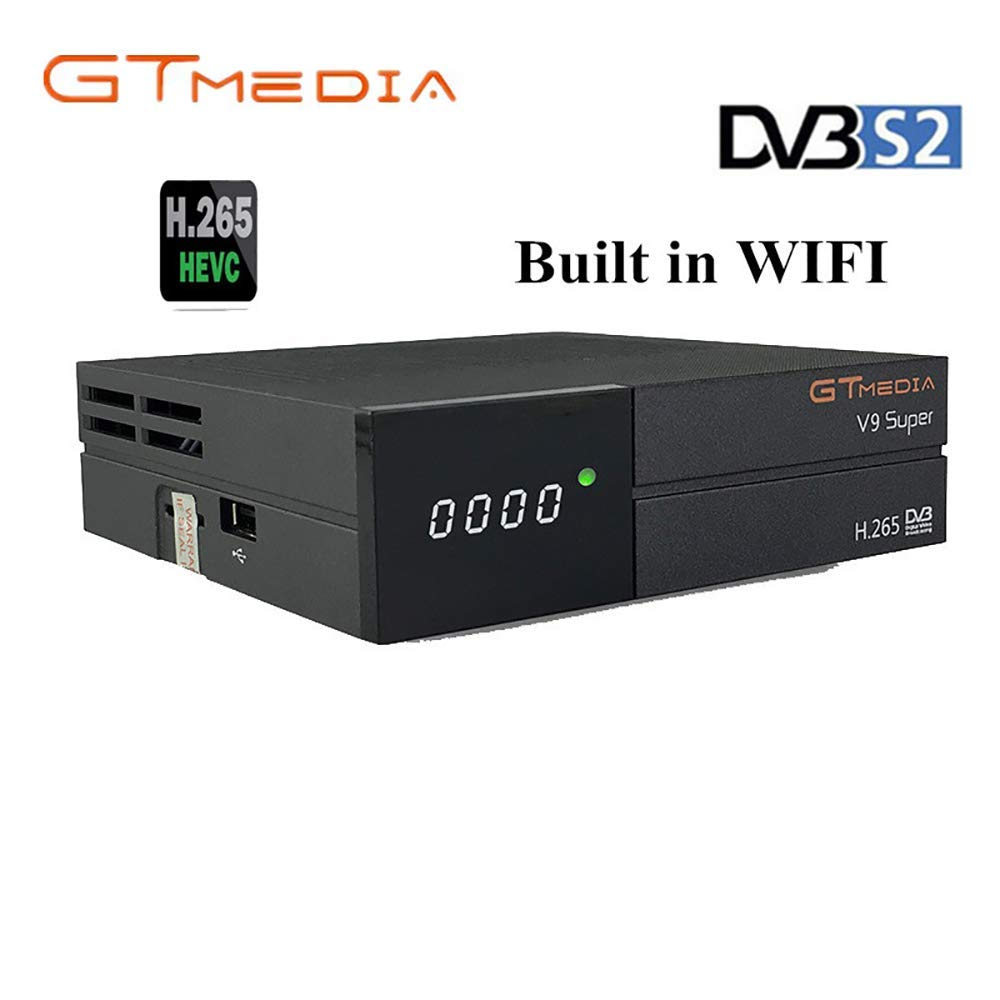 GTMEDIA V9 Full HD DVB-S2 Freesat Satellite Receiver H.265 Built-in WiFi TV Box Support PowerVu, DRE & Biss Key, DLNA, SAT to IP,Unicable,Satellite EPG