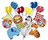 20 pc Circus Animal Balloon Bouquet Happy Birthday Decoration Carnival Elephant