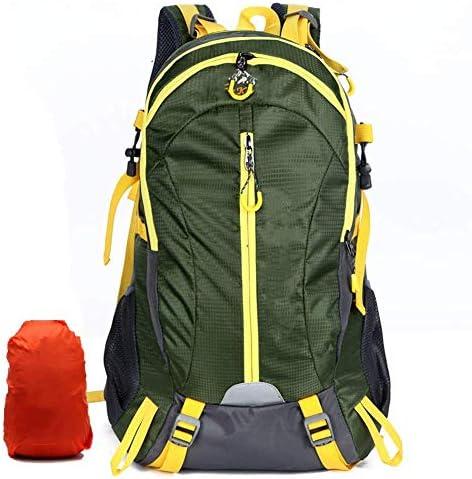 BAJIMI アウトドアハイキングキャンプ旅行40Lナイロンリュックサック登山メンズ・レディース・パックバッグ/グリーンのための防水バックパック