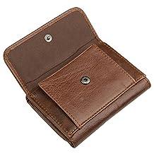 Men's RFID Blocking Genuine Leather Pocket Wallet 2 ID Window Snap Coin Pocket