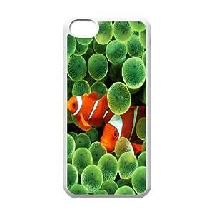IPhone 5C Cases Marine Animal X4, Protective Case for Iphone 5 - [White] Okaycosama