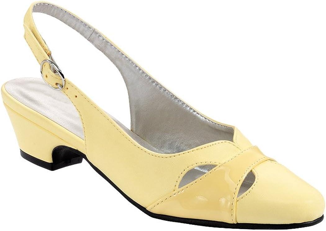 60s Shoes, Boots AngelSteps Womens Juniper Pumps Dress Shoes Adjustable Buckle Back Low Heel $39.98 AT vintagedancer.com