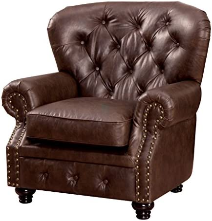 Cheap Furniture of America Linden Traditional Arm Chair living room chair for sale