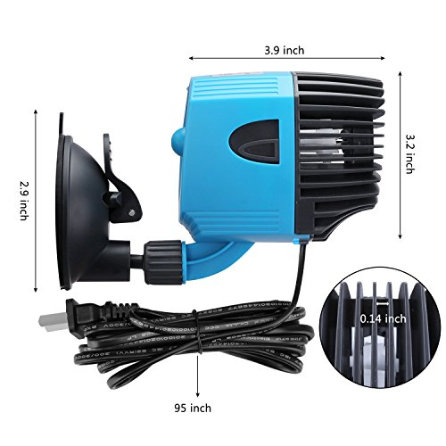 Kedsum 2642gph aquarium circulation pump wave maker with for Fish tank wave maker