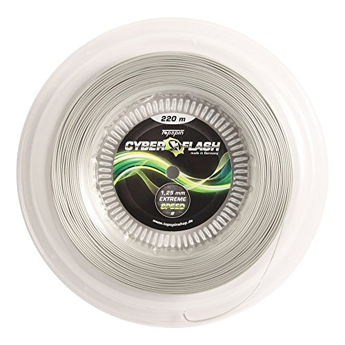 Topspin Cyber Flash Tennis String - Extreme Speed - 1.20mm / 17 - Grey - 722ft/220m Reel