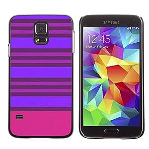 X-ray Impreso colorido protector duro espalda Funda piel de Shell para SAMSUNG Galaxy S5 V / i9600 / SM-G900F / SM-G900M / SM-G900A / SM-G900T / SM-G900W8 - Purple Pink Lines Symmetric