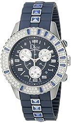 Christian Dior Women's CD11431IR001 Christal Chronograph Diamond Blue Dial Watch