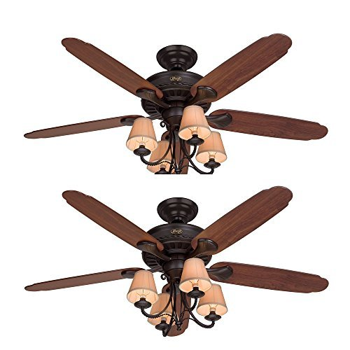 "Hunter Ceiling Fan Brown 53094 Cortland 54"" with Light, New"