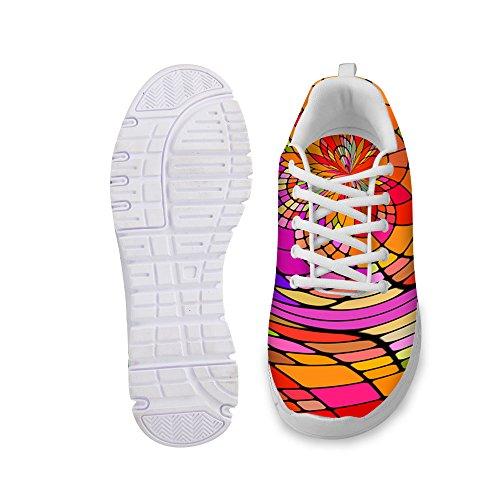 För U Designar Snygga Kvinna Mode Sneaker Avslappnad Bekväm Athletic Walking Löparskor Apelsin