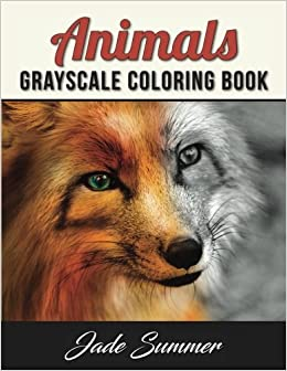 Amazon Animals Grayscale Coloring Book 9781539933441 Jade Summer Books