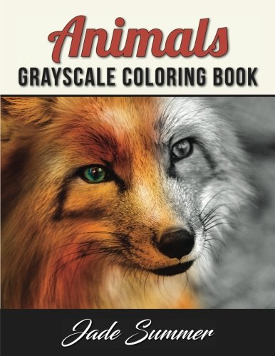 Animals Grayscale Coloring Book Summer product image