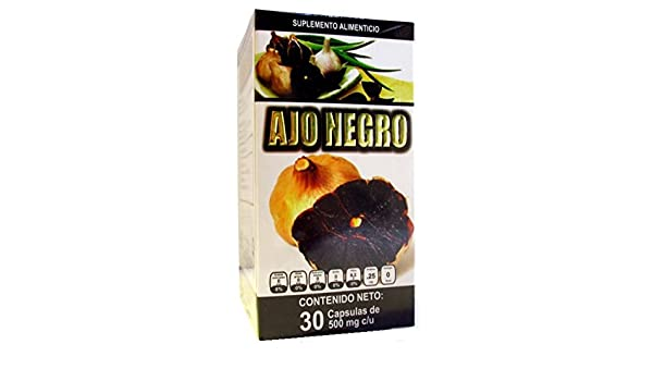 Amazon.com: Ajo Negro con Jengibre, Black Garlic with Ginger, 30 capsules 500 mg ea. Dietary Supplement.: Health & Personal Care