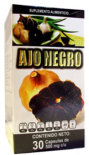 Ajo Negro con Jengibre, Black Garlic with Ginger, 30 capsules 500 mg ea.